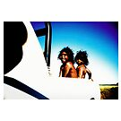Kids in back of the ute.   by Brett Squires