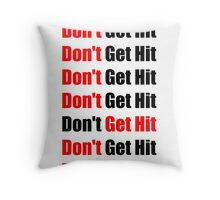 Don't Get Hit  (Isai) - Red/Black Throw Pillow