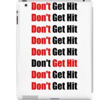 Don't Get Hit  (Isai) - Red/Black iPad Case/Skin