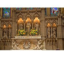 USA. Connecticut. New Haven. Trinity Church on the Green. Altar. Photographic Print