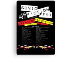 Sonic Fiction Fest Canvas Print