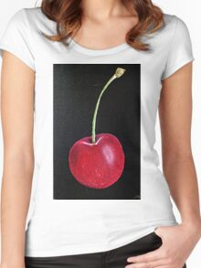 THE CHERRY Women's Fitted Scoop T-Shirt
