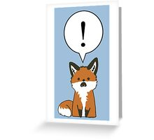 Margo the Shocked Fox Greeting Card