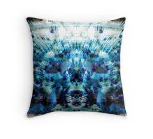 Blue Bang Worship Throw Pillow