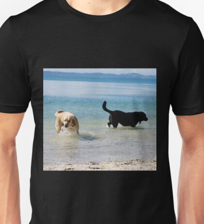 Fun in the sun - dogs having fun Unisex T-Shirt