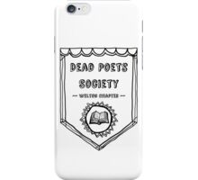 Society Crest (White) iPhone Case/Skin