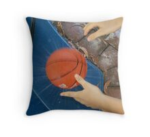 fun with water and balls Throw Pillow