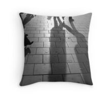 Shoppers Throw Pillow