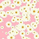 Daisies on pink by Gaspar Avila