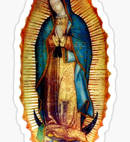 Our Lady of Guadalupe Tilma Replica Sticker