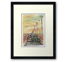 Country chinwag Framed Print