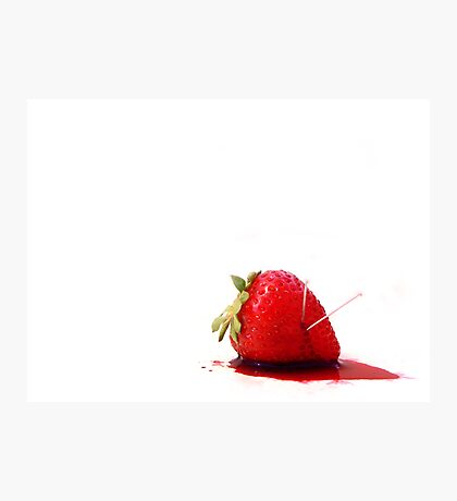 Blood Berry Photographic Print