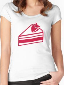 Strawberry cake Women's Fitted Scoop T-Shirt