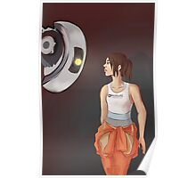 Chell and Glados Poster