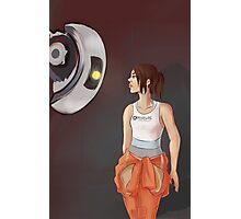 Chell and Glados Photographic Print