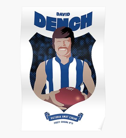David Dench - North Melbourne (for white shirts only) Poster