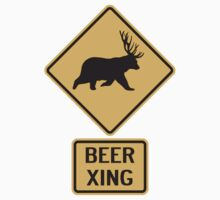 Bear Deer Beer Crossing by TheShirtYurt