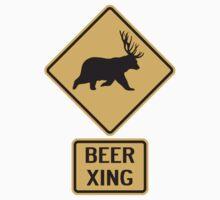 Bear Deer Beer Crossing by TheShirtYurt