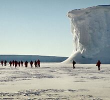 Walking at the Drygalski Ice Tongue, Antarctica by Carole-Anne