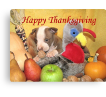 Thanksgiving (prints & cards w/words - all other items w/no words) Canvas Print