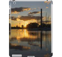 Burning Sunset at the Beaches Marina iPad Case/Skin