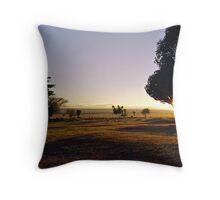 Sunrise at Kitchwa Tembo Campsite Throw Pillow