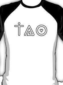 tao (white w/ black outline) T-Shirt