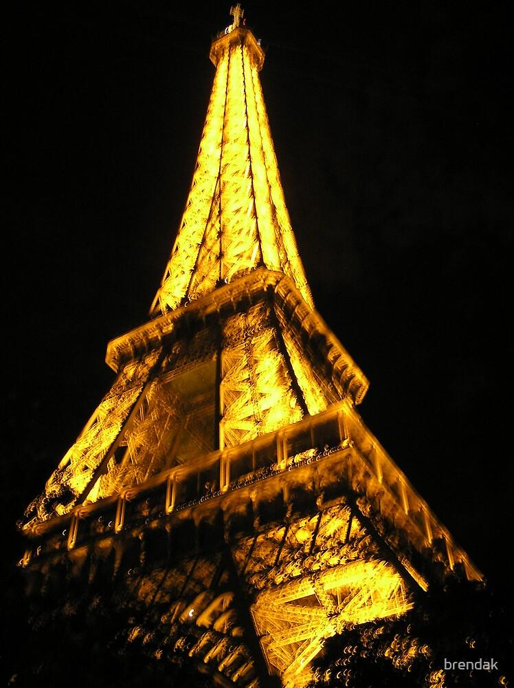 The Eiffel Tower by night by brendak