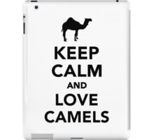 Keep calm and love camels iPad Case/Skin