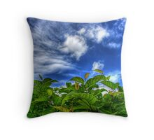 Sky and Plants Throw Pillow