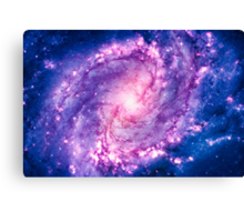 Cosmic vacuum cleaner (Spiral Galaxy M83) Canvas Print