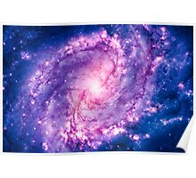 Cosmic vacuum cleaner (Spiral Galaxy M83) Poster