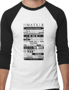The Matrix Men's Baseball ¾ T-Shirt