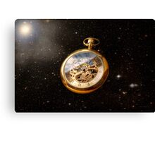 Clockmaker - Space time Canvas Print