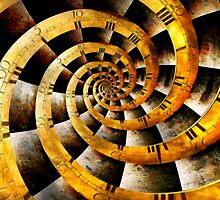 Steampunk - Clock - The flow of time by Mike  Savad