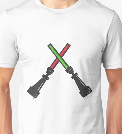 SW Lightsaber - Sith and Jedi/Red and Green Unisex T-Shirt