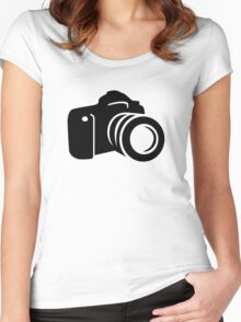 Photo reflex camera Women's Fitted Scoop T-Shirt