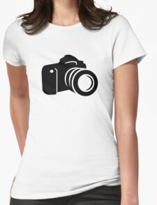 Photo reflex camera Womens Fitted T-Shirt