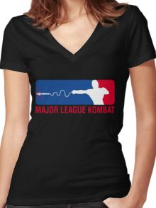 Major League Kombat Women's Fitted V-Neck T-Shirt