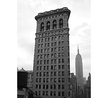The Flat Iron Building and the Empire State Building Photographic Print