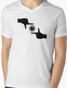 Hands camera Mens V-Neck T-Shirt