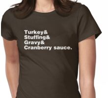 Thanksgiving Helvetica Womens Fitted T-Shirt