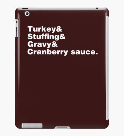 Thanksgiving Helvetica iPad Case/Skin