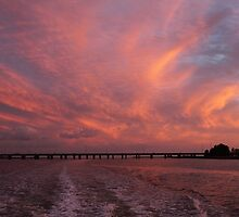 Sunset Swirls by Carol Bailey White