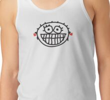 Happy Face with Red Earrings Tank Top