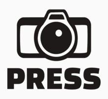 Press Camera Kids Tee