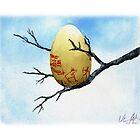 Alces ajassa egg painting by Veera Pfaffli