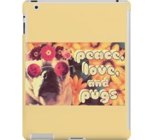 Flowered Hippie Pug iPad Case/Skin