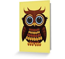 Friendly Owl - Yellow Greeting Card