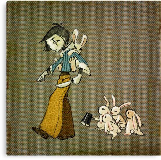 Kill Bunny - square by kookylane